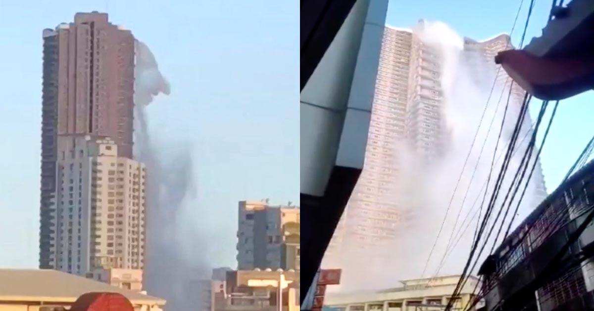 フィリピンの地震で目撃された、超高層ビルの光景が話題に
