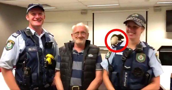 ホームレスが飼っていたネズミが行方不明に!警察が捜索し感動の再会!