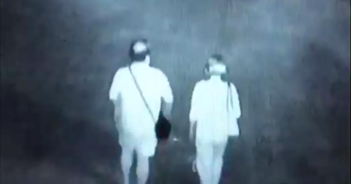 夜道を歩いていた夫婦の可愛すぎる行動が目撃され話題に笑