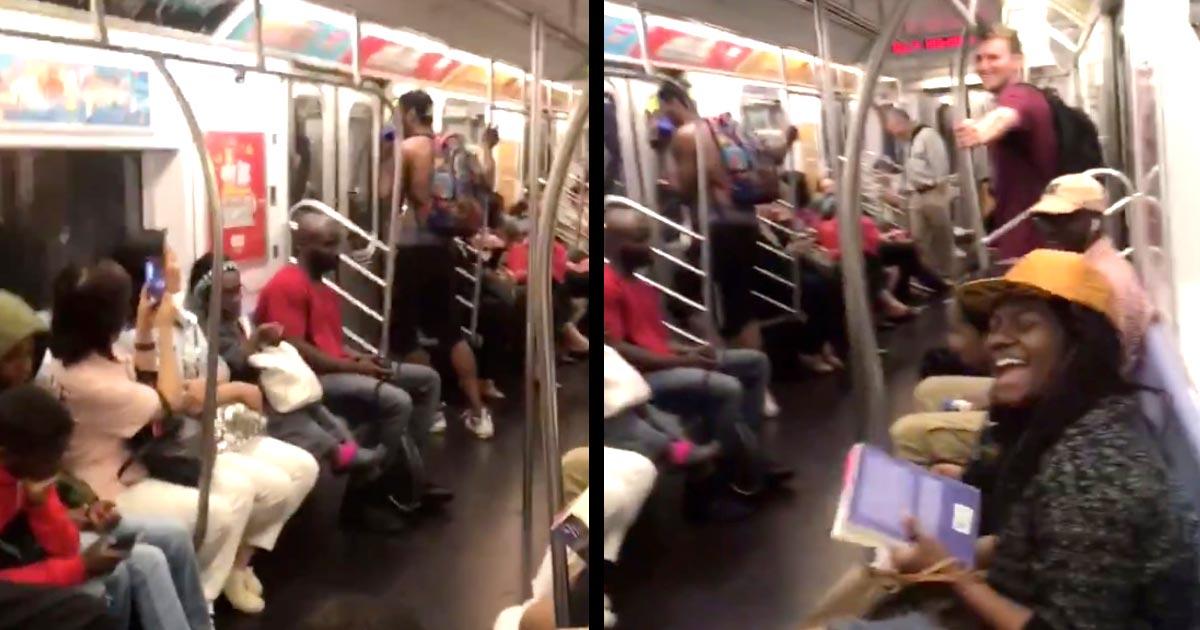 【神対応】「日本だと炎上しそう」地下鉄で爆音で音楽を流す男性。しかしそれを見たニューヨークの人々の対応が最高すぎたと話題に!