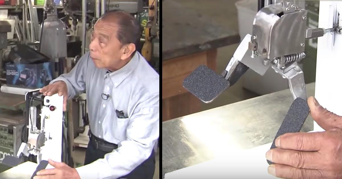 「踏み間違い事故を撲滅したい」79歳の町工場のオヤジさんが考案した「踏み間違い防止ペダル」に注文殺到!