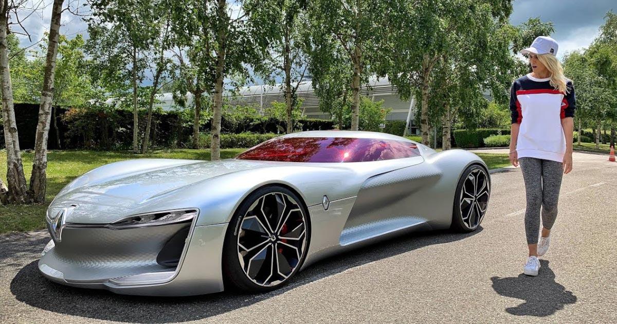 【鳥肌】CGかと見紛う未来的なデザインの「世界で最も美しい車」、ルノーの「トレゾア」に乗ってみた動画が話題に!