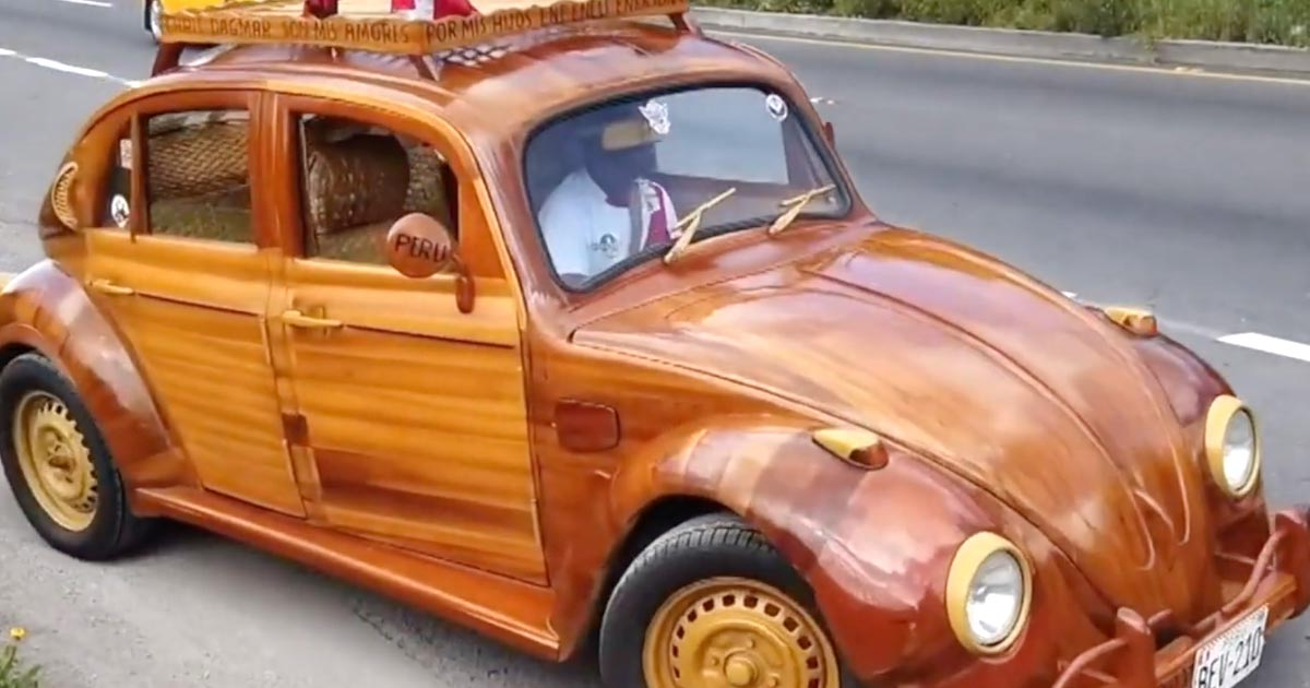 自作の木製フォルクスワーゲン「ビートル」で娘との約束を守るため21,000kmを旅するパパが素敵すぎる!ペルーからニューヨークへ!