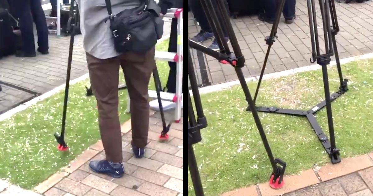 毎日放送のカメラマン、住民が手入れしている芝生の上に三脚を立てて住民に怒られる!「勇気ある行動に拍手」「素直な対応で良かった」