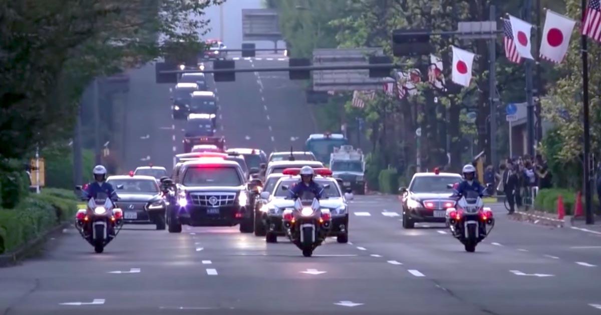 誰だこんなの作ったヤツ笑!トランプ大統領の車列に「西部警察」のテーマ曲を付けたらハマりすぎてヤバいと話題に笑