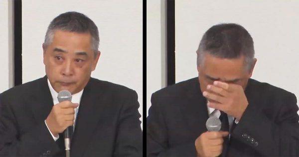 吉本興業の岡本社長が涙の記者会見!「処分撤回するので宮迫さんと田村さんに戻ってきてほしい」「テープ録音してないだろうなは」「会見したらクビ」は冗談