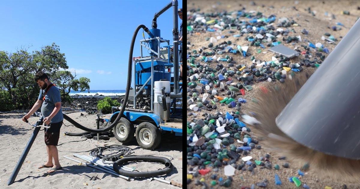 マイクロプラスチックを吸い上げる「砂浜用の掃除機」を大学生が開発!【実際の作動動画】