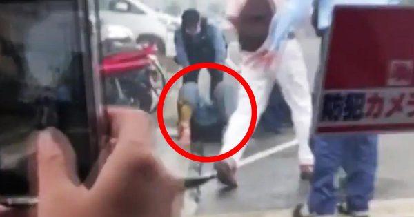 【京アニ放火】犯人が確保された瞬間の動画が公開される!青葉容疑者の容体は予断を許さない状態
