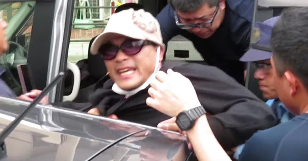 常磐道アオり運転の宮崎容疑者確保の動画が公開!確保の瞬間の宮崎容疑者と同乗女性あまりに自己中な態度がひどすぎる!