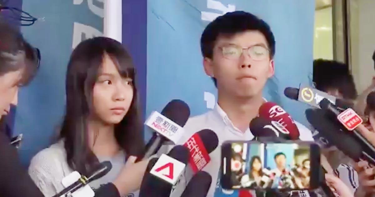 香港の警察に逮捕拘束されていた「民主の女神」ことアグネス・チョウさんとジョシュア・ウォンさんの身柄解放!