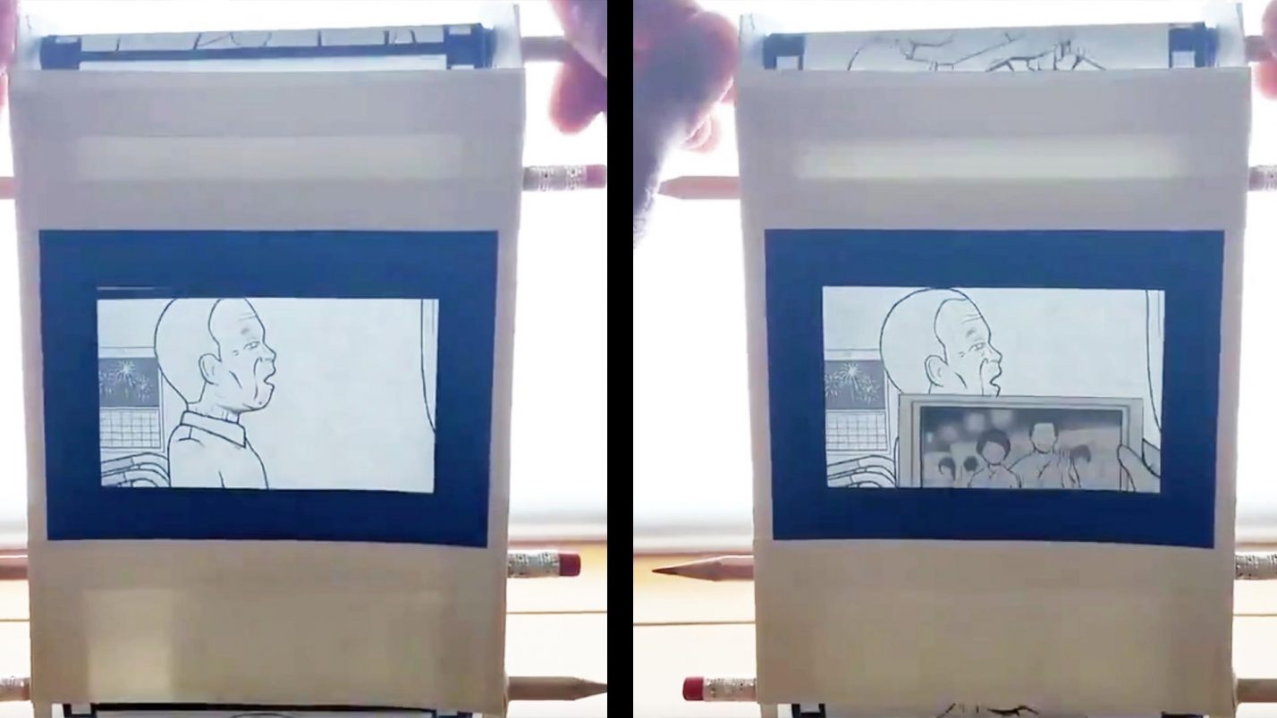 鉛筆と紙で作った「動くフィルム漫画」が泣けると話題に!今は認知症になってしまったおじいさんとの若い夏の思い出