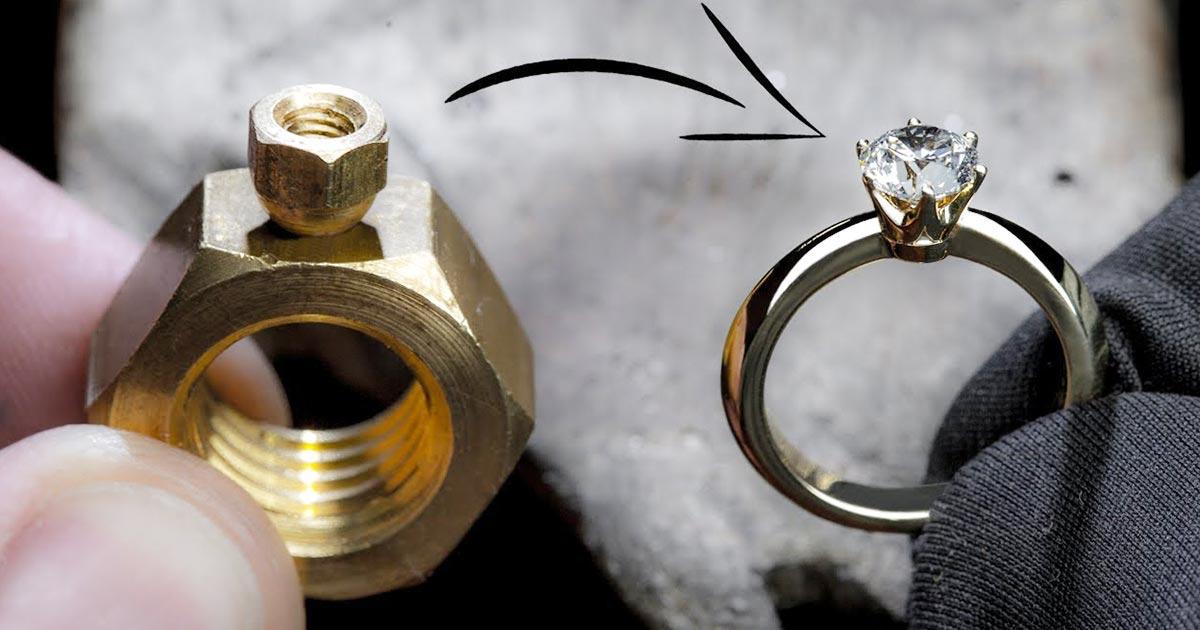 ただの六角ナットからピカピカの指輪を作ってしまう動画がすごい!世界中で7000万回以上再生される!