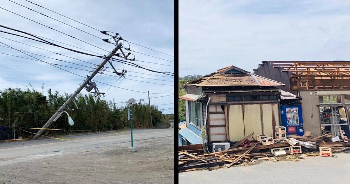 台風15号の被災地は千葉だけではなく、新島や伊豆大島など伊豆七島の被害も甚大!「なんでテレビは報道しないの?」「被害のない建物ない」などの声が寄せられる!