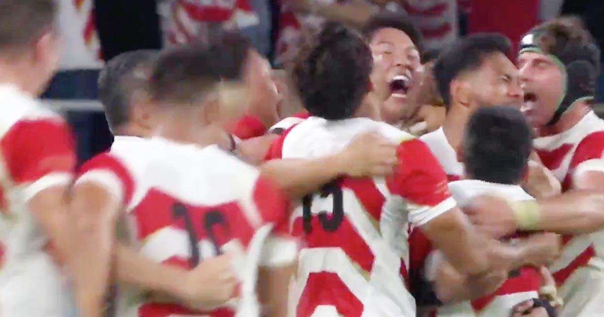 【ラグビーW杯】日本代表が圧倒的な力の差があるとされていた世界2位のアイルランドに勝利!勝利の瞬間、選手やファンの熱狂のスゴさが伝わる動画に鳥肌!