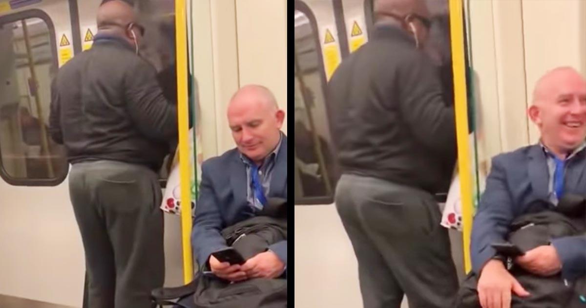 【爆笑】電車でボンジョビを大声で歌う迷惑な男。しかしサビでの思いもよらぬ展開に、乗客と世界中の人々が大爆笑する事態になり話題に笑