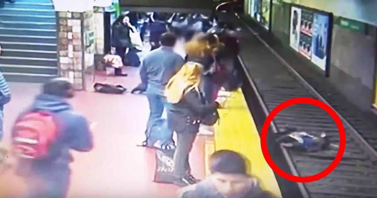 【神対応】後ろの乗客が倒れホームから落ちてしまった女性。ホームのお客さんたちの対応が素晴らしすぎて感動したと話題に!