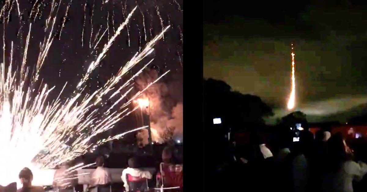 「目の前5メートルくらいで爆発」土浦の花火大会で観客の目の前に花火が落下しパニックになる!
