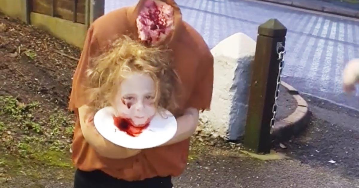 【ハロウィン2019】今年のハロウィンでダントツで怖かった4歳少女の仮装に世界中がびっくり!
