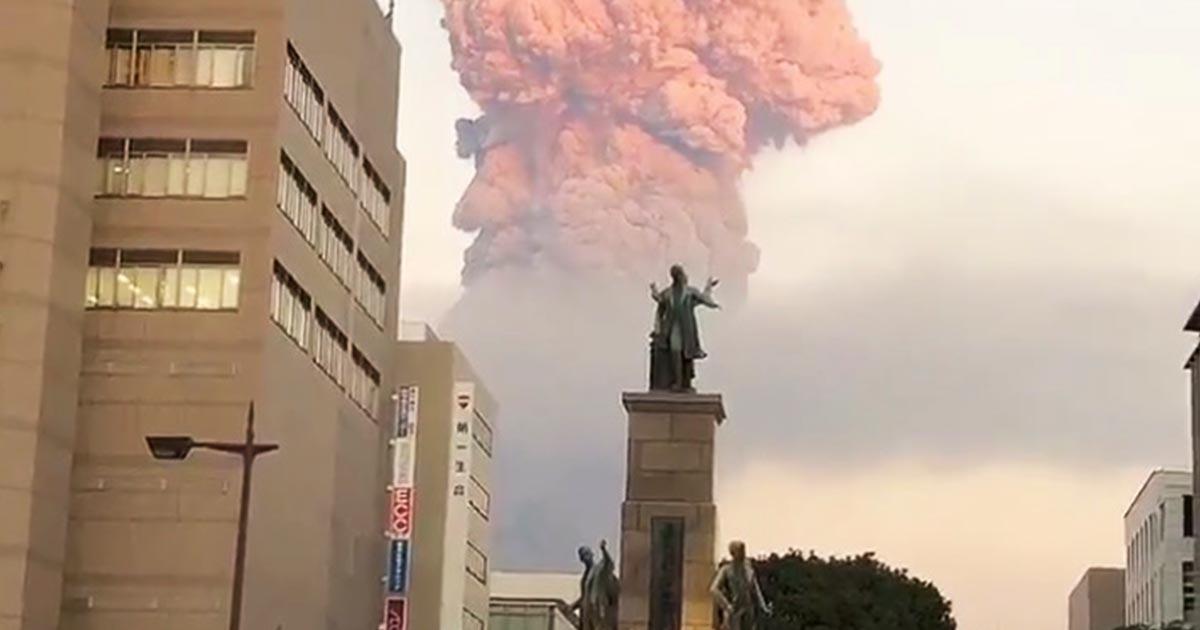 「鹿児島県民みんな写真撮影」街中から撮影されたこの世の終わりみたいな動画に鳥肌!