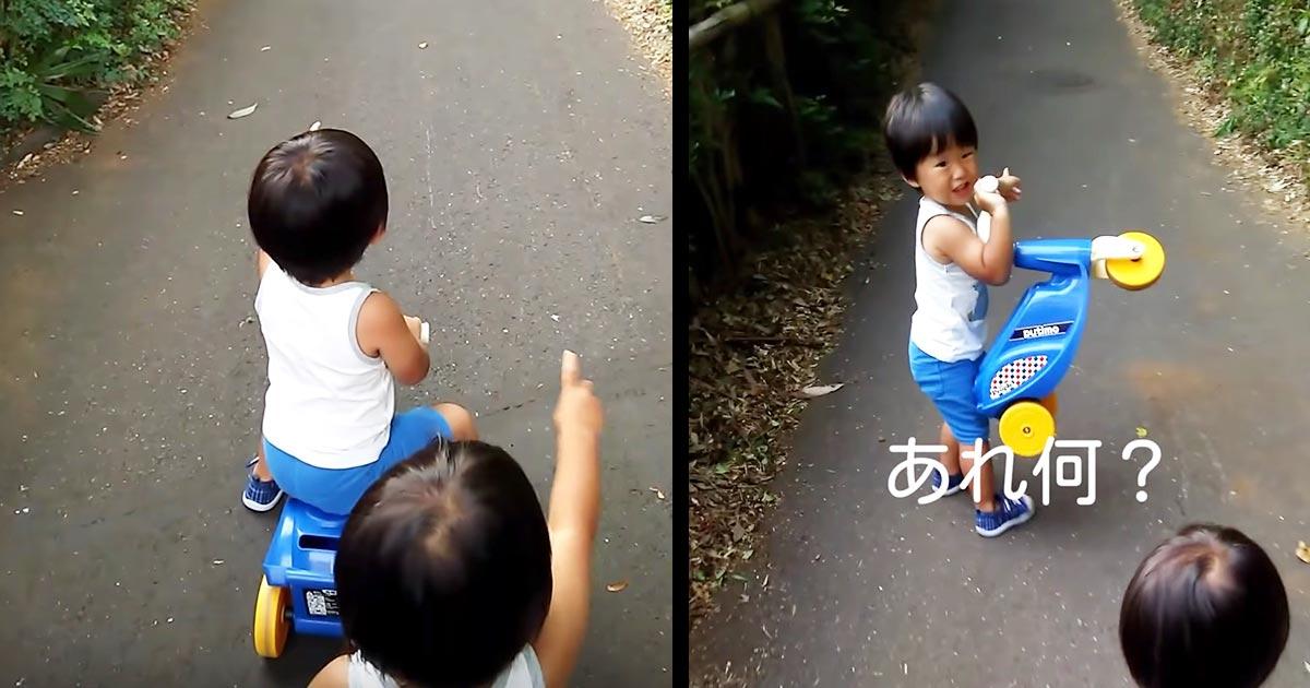 【鳥肌】2歳の双子が何もない方を指差し「あれ何?何か居る!来ないで!」何が視えているんだろう。。最後の反応に鳥肌!
