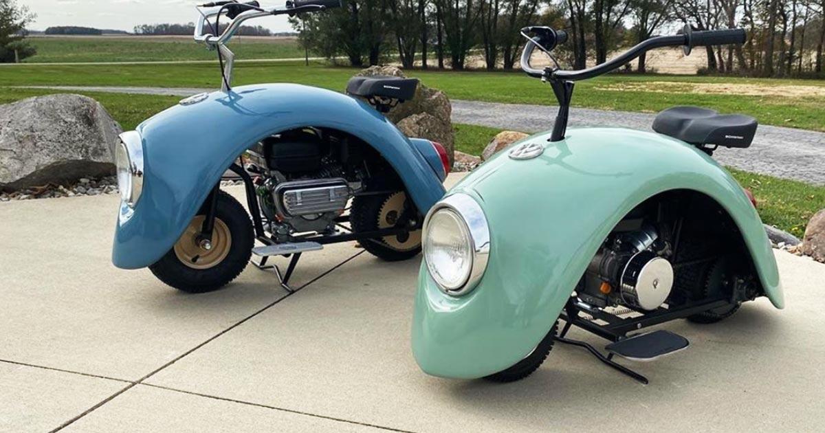 古いフォルクスワーゲンを再利用したミニバイクが可愛すぎると話題に!【走行動画あり】