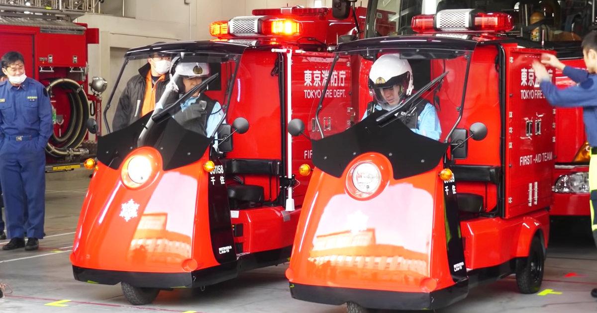 初出動!東京消防庁のファーストエイドチームの新車両の電動3輪カーが可愛いと話題に!