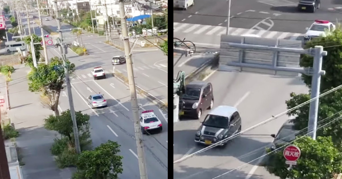 【沖縄】酒気帯び運転のドライバーが逃げ、ド派手なカーチェイスが繰り広げられる!「逃げたら罪が重くなるだけなのに」などの声!