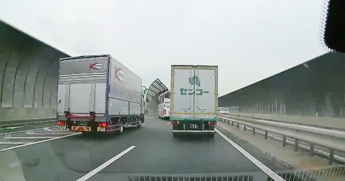 高速道路で分岐を間違えたトラックの自己中すぎる行動が物議!「毎日仕事で走ってると色んなヤツに遭遇するけど、コイツは流石にヒドい」