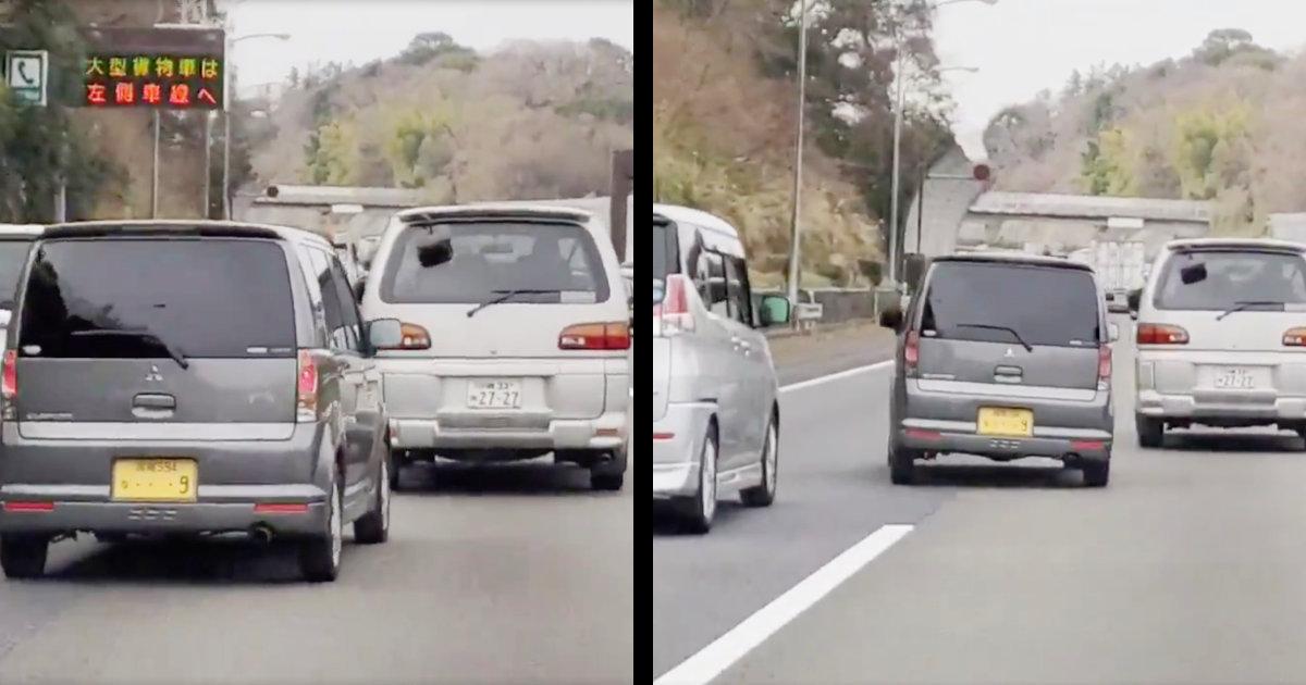 「煽りというより急いでいる感じ」「間違いなくトイレ」高速道路をマリオカートみたいにぶっ飛ばしていく軽自動車が目撃され、撮影者も思わず笑ってしまう!