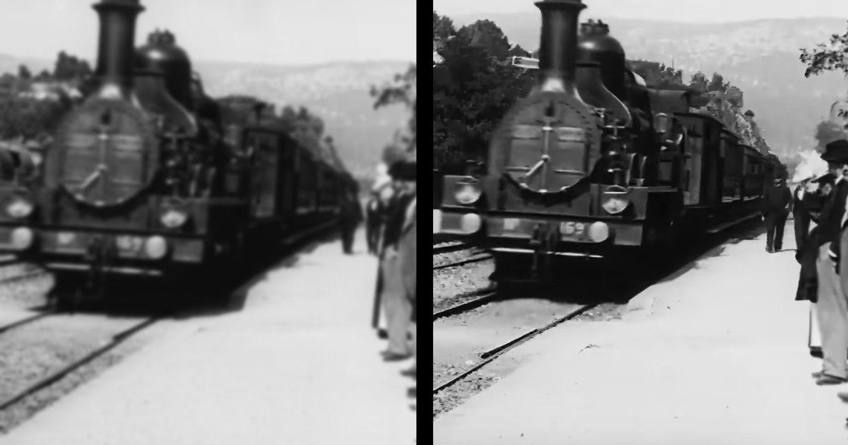 125年前のボケた動画を、AIの力で4K高画質にしてしまった開発者が話題に!比較動画がスゴすぎる!