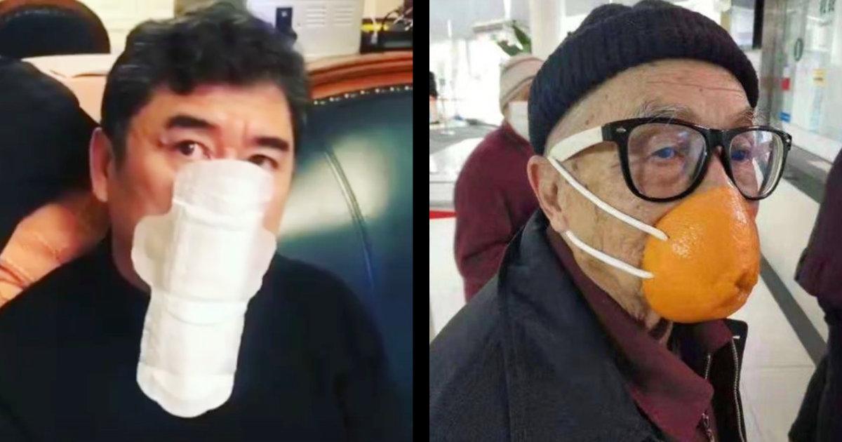 お父さんそれマスクちゃう、、生理用ナプキンや。。深刻なマスク不足の中国、人々が発想がクリエイティブすぎるマスクを編み出し話題に!