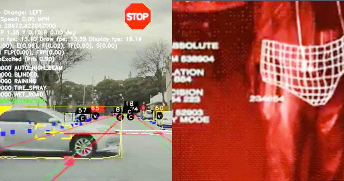 【鳥肌】「凄すぎてお茶吹いた」テスラの自動運転システムが認識する世界がターミネーターと完全に一致していると話題に!