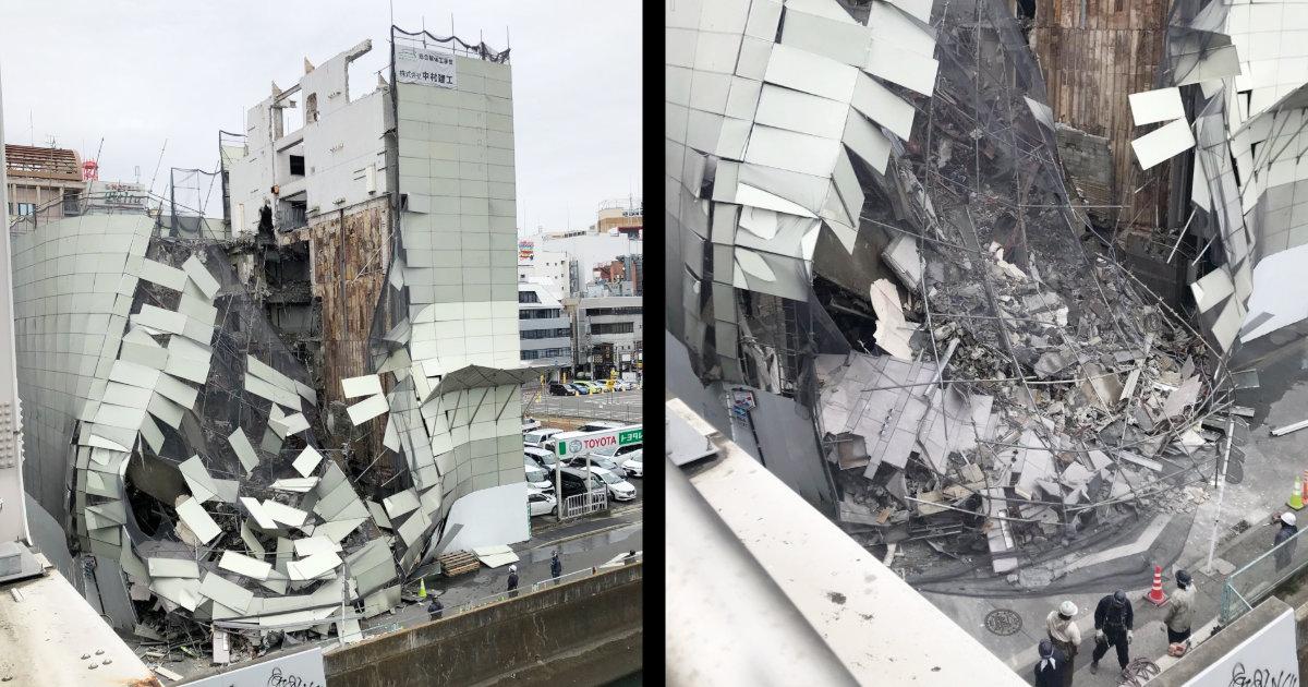 横浜駅西口で解体中のビルが崩壊!「凄まじい音が周囲に響き渡った」