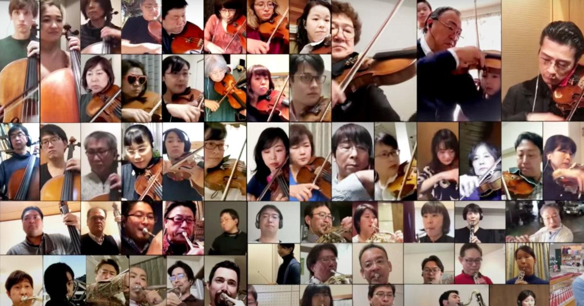 【鳥肌】新日本フィルがテレワークで本気で演奏した「パプリカ」が凄すぎて鳥肌!