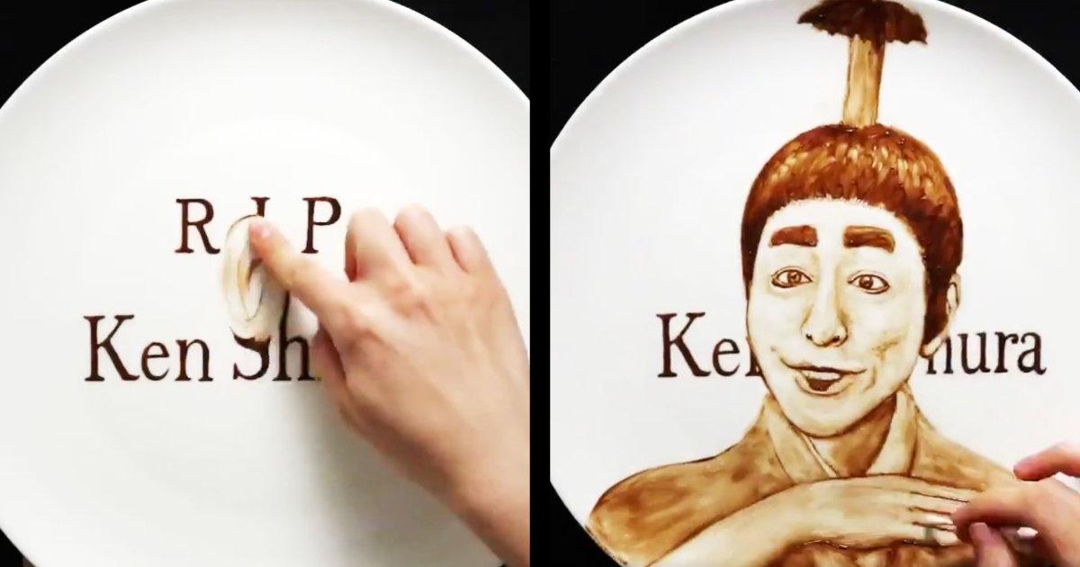 【神技】写真みたいに超リアルな志村けんさんの顔がどんどん変化する、チョコレートで描かれたアートが凄いと話題に!「けんさんが笑顔になった途端胸がいっぱいになった」