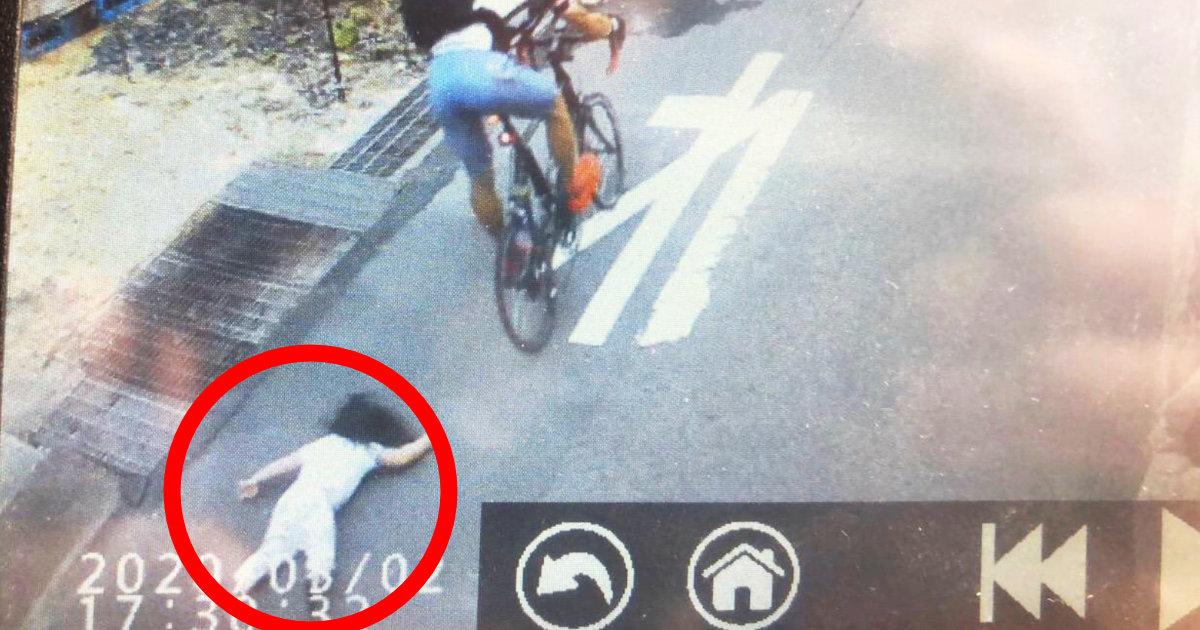 【広島】自転車の男が3歳の女の子にぶつかりそのまま走り去る!女の子は大けが!