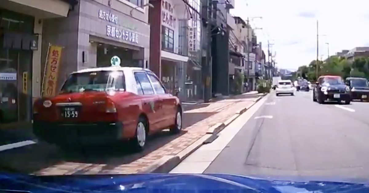 【京都】ひどすぎる運転のタクシードライバーが目撃され、タクシー会社が謝罪!