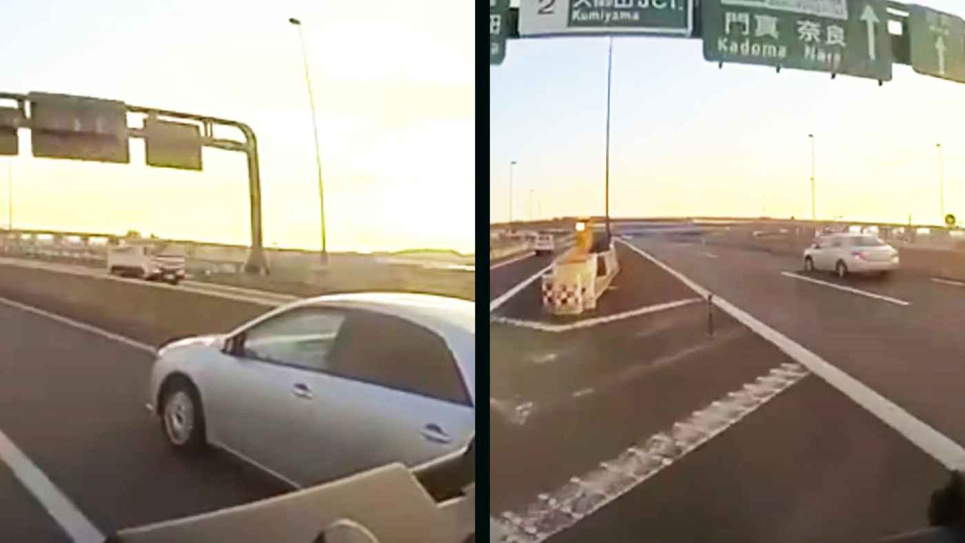 高速道路で覆面パトカーが幅寄せ!回避した観光バスが中央分離帯にぶつかりかけるも「自損」扱い!警察の言い訳もひどすぎる!