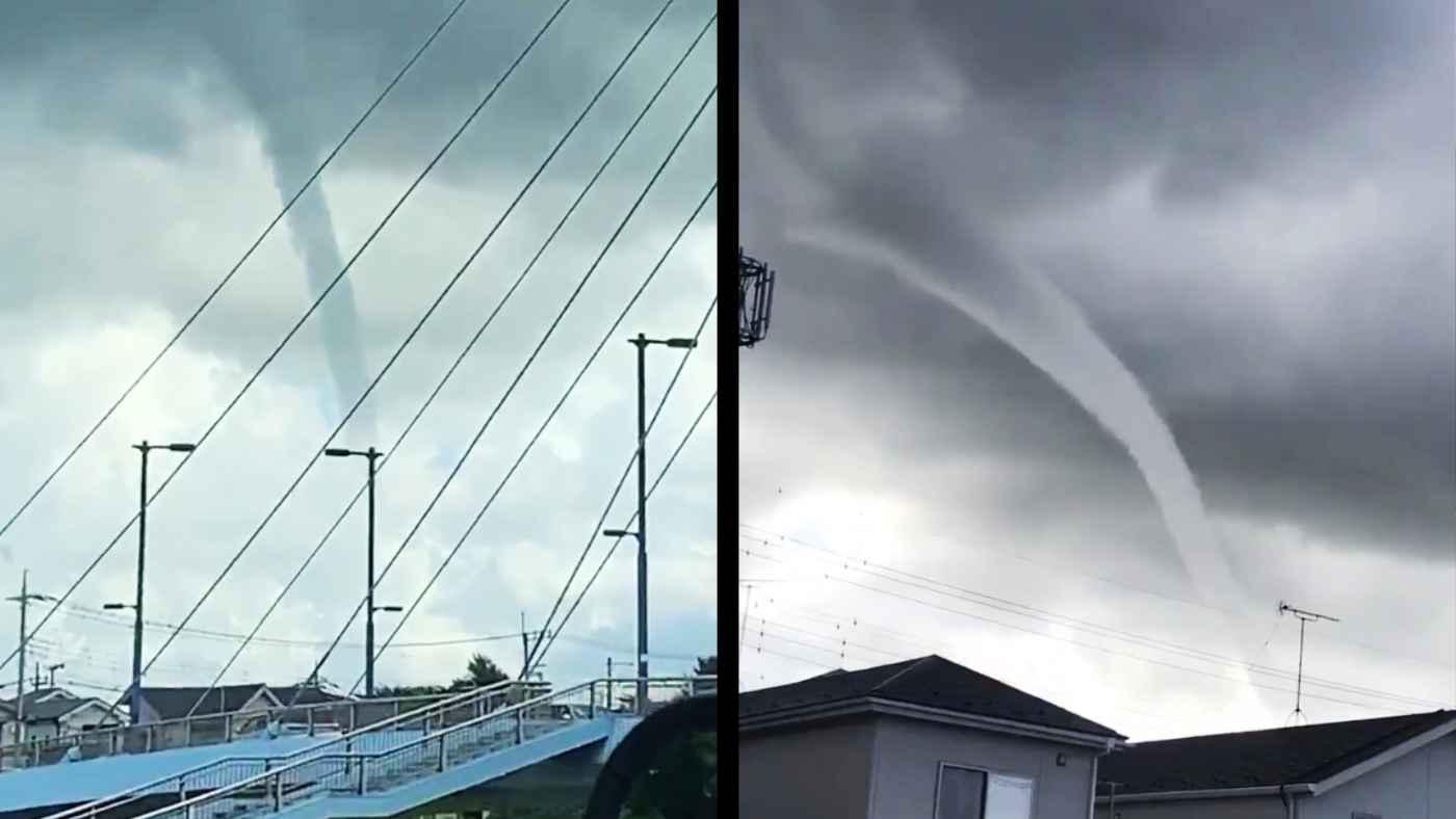 埼玉県で竜巻の種「ろうと雲」が発生し話題に!