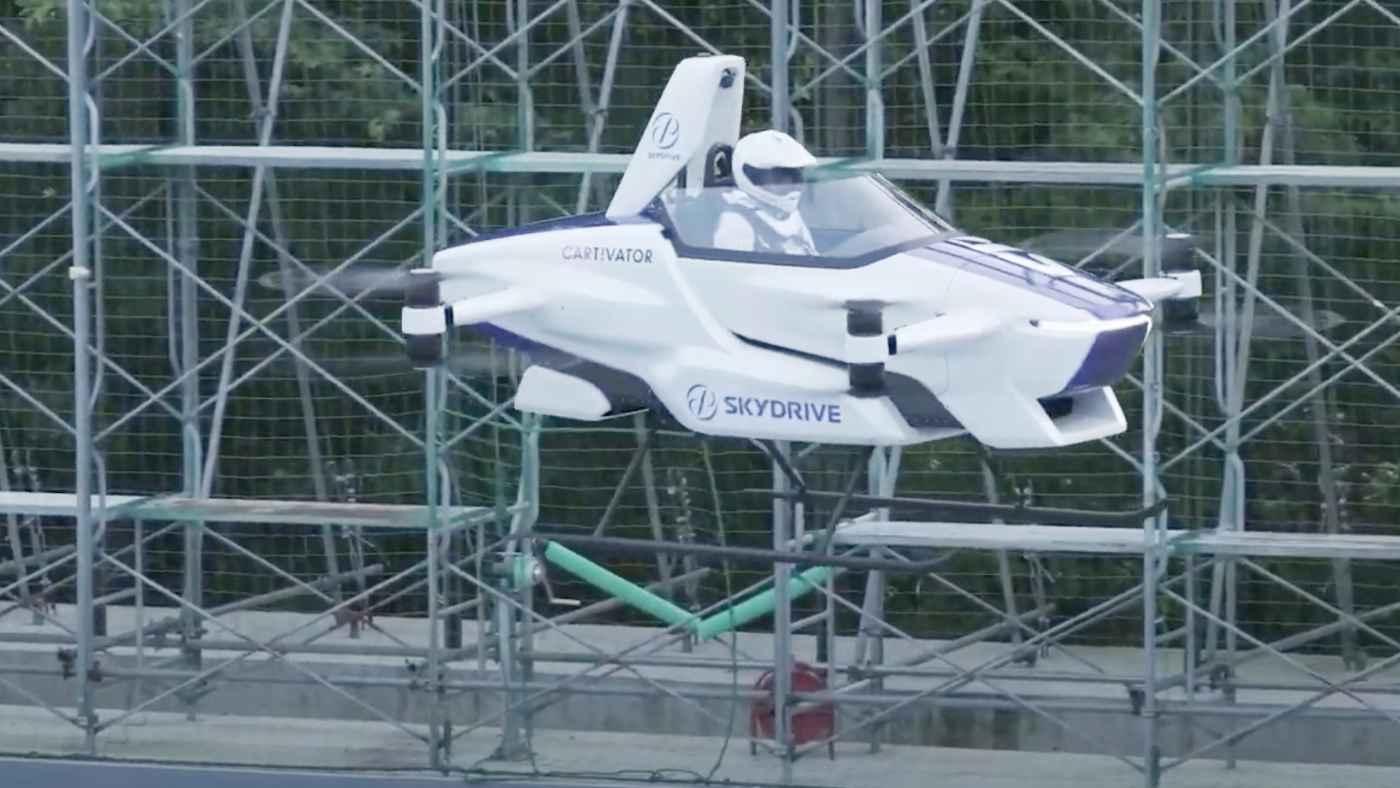 「日本はアニメの世界を現実にする」日本で開発された一人乗りの「空飛ぶクルマ」が凄いと海外で話題に!