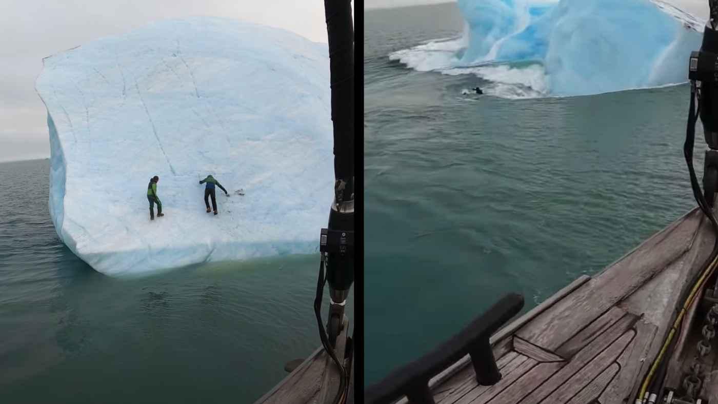氷山に登っていた世界的ベテラン探検家。しかし急に氷山が動きヤバすぎることになってしまう!