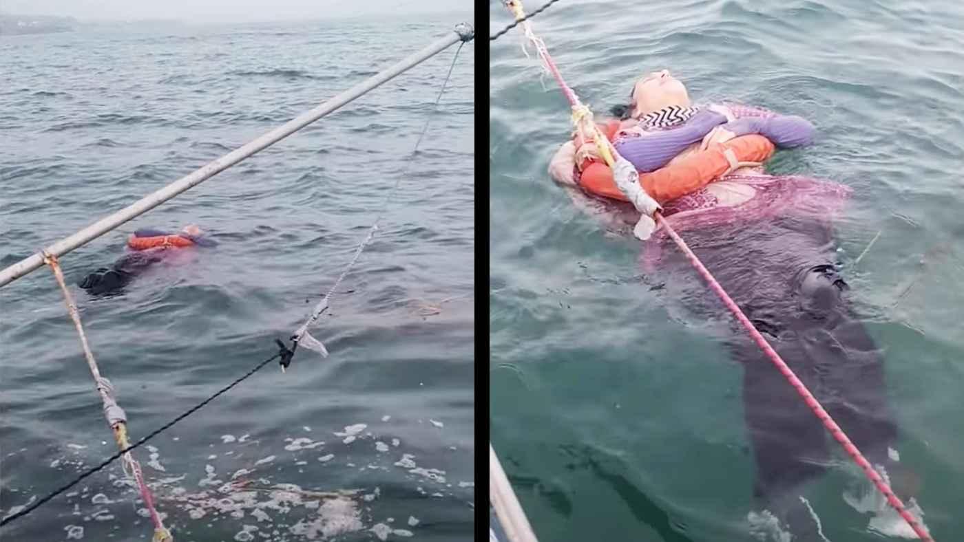 2年前に行方不明になった女性、海に浮いているところを漁師たちに救助され話題に!