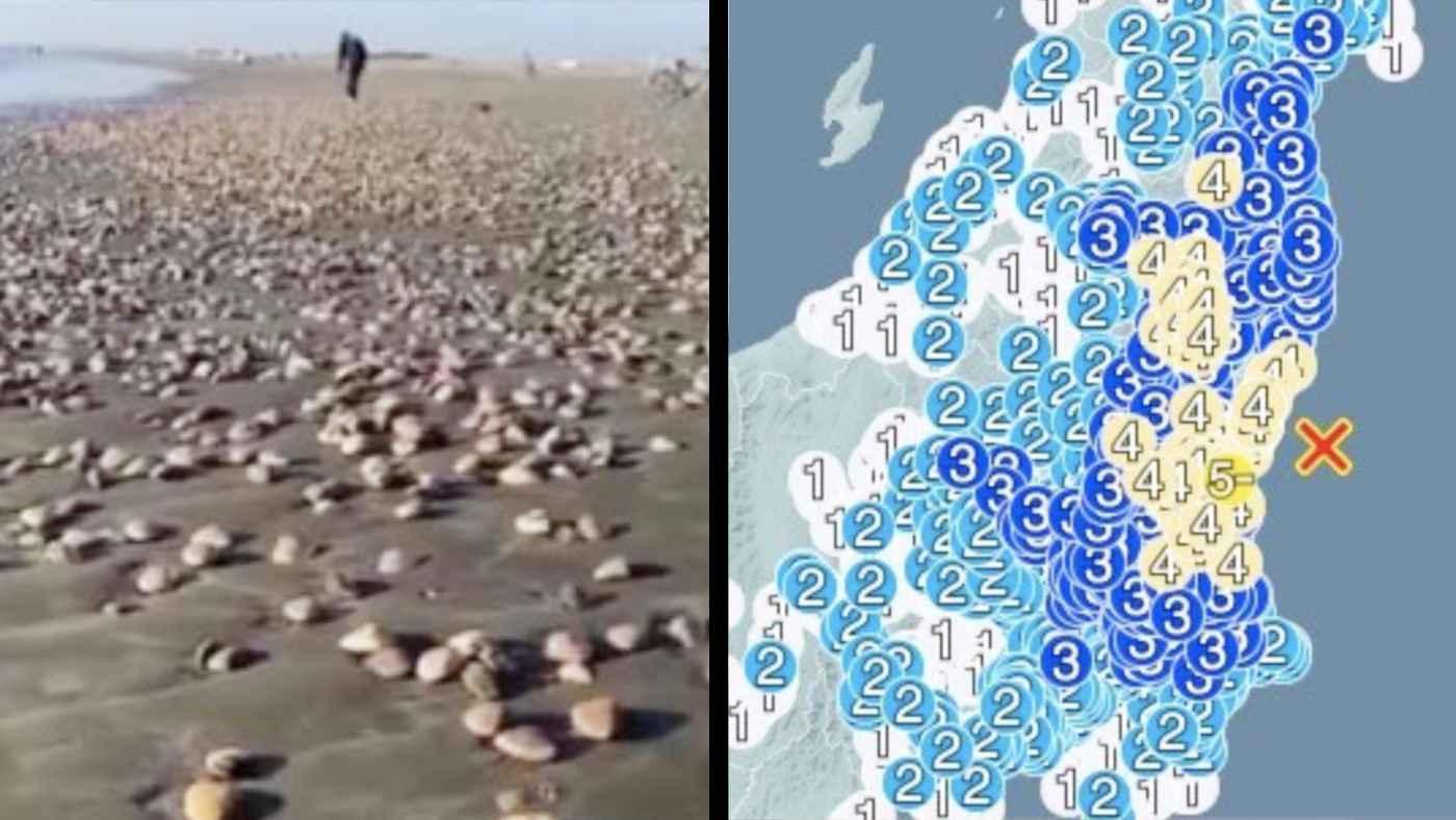 本日の茨城沖M5.8の地震、先日大量のハマグリが打ち上げられた場所と震源が一致していて話題に!
