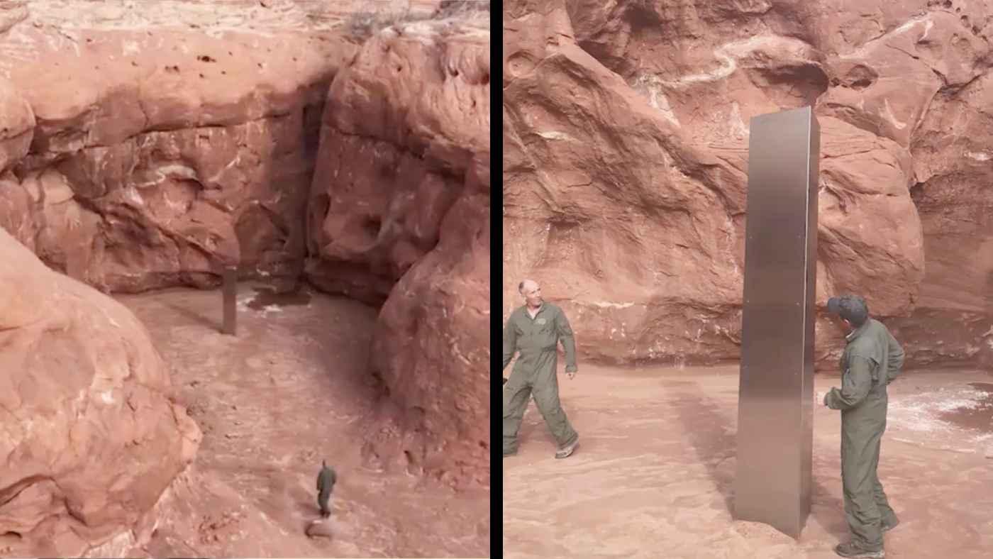 「2001年宇宙の旅」のモノリスのような物体が砂漠の真ん中で発見され話題に!