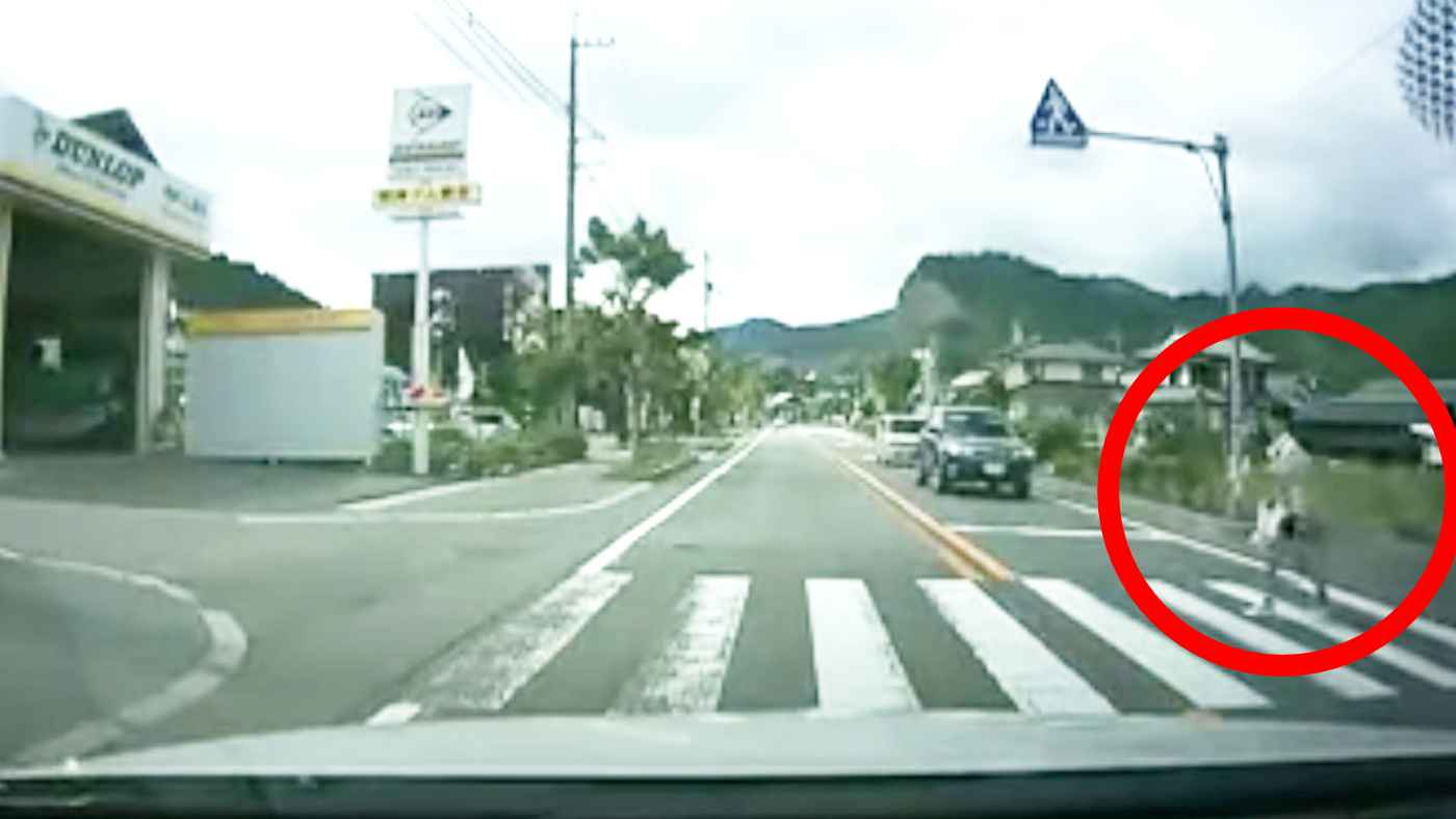 横断歩道を渡りきった女の子の礼儀正しい行動に絶賛の声!