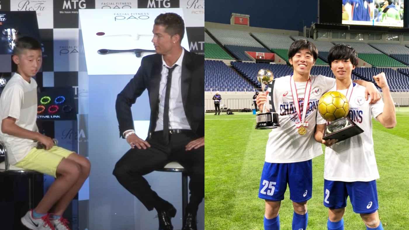 一生懸命カタコトで話す少年を笑ったマスコミに「なぜ笑うんだ?」と神対応のC・ロナウド。7年後の2021年、少年が全国高校サッカー選手権で優勝し話題に!