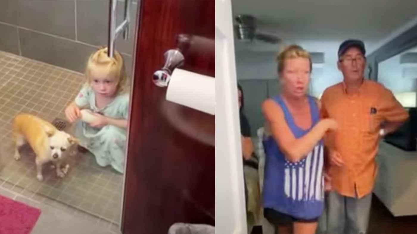 お風呂場で女の子が犬にやっていたことがヤバすぎて、祖母が顔面蒼白で止めさせる!