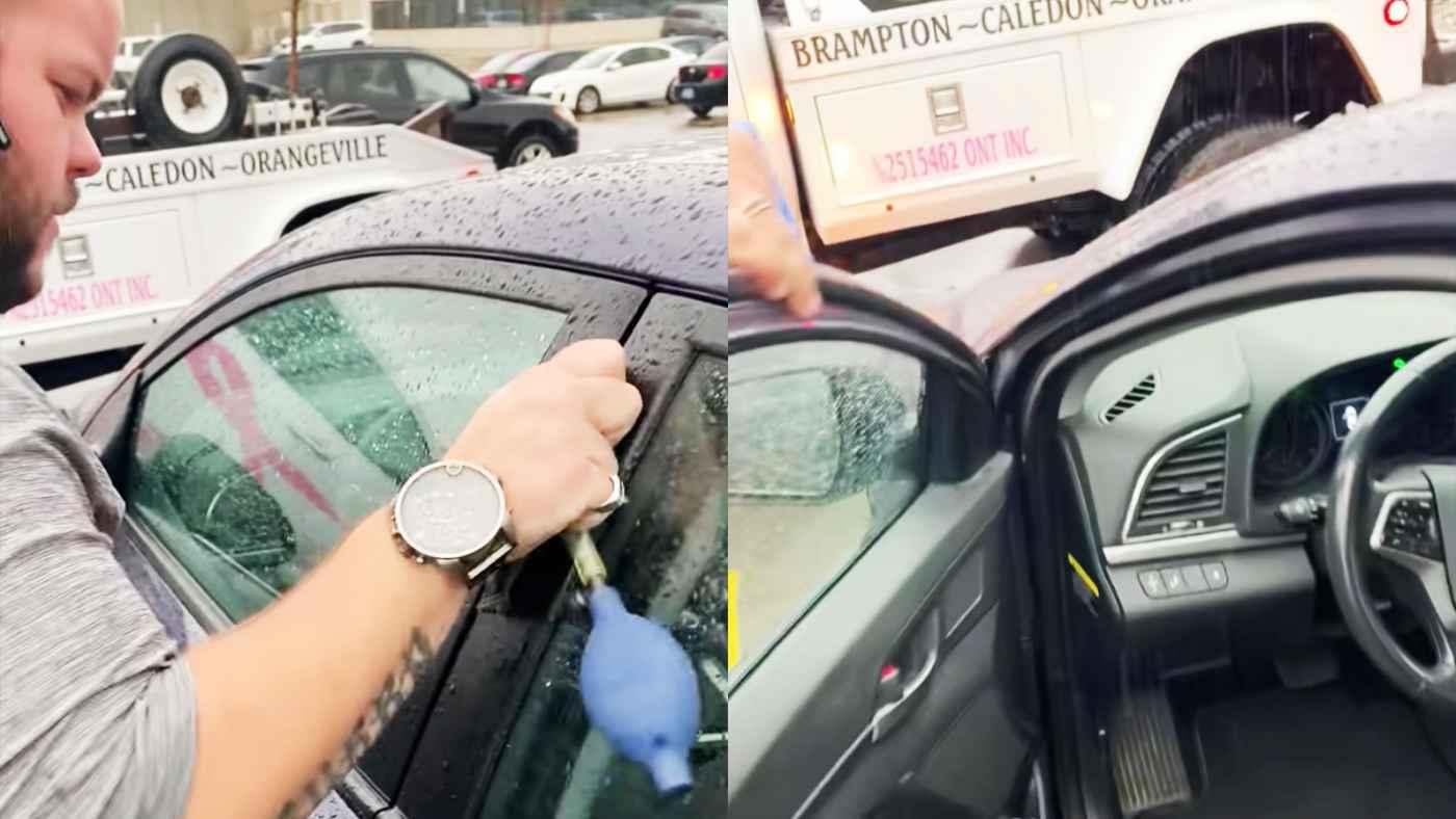 さすがプロ!ロックされた車のドアをたった数秒で開ける技術が凄いと話題に!
