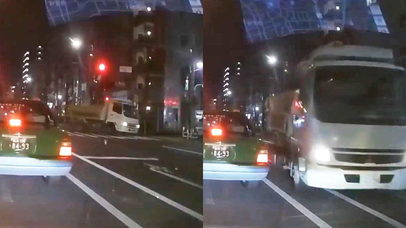 「免許を持たせてはいけない」現実とゲームを混同してるとしか思えないヤバすぎる運転のトラックが物議!