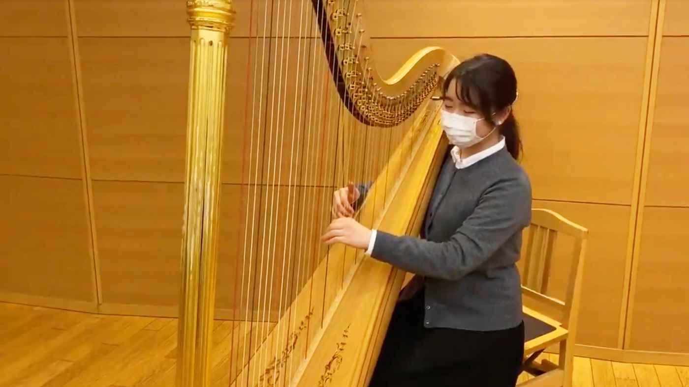 【神業】ハープ演奏者に耳コピでFFを演奏してもらったら神業だと話題に!